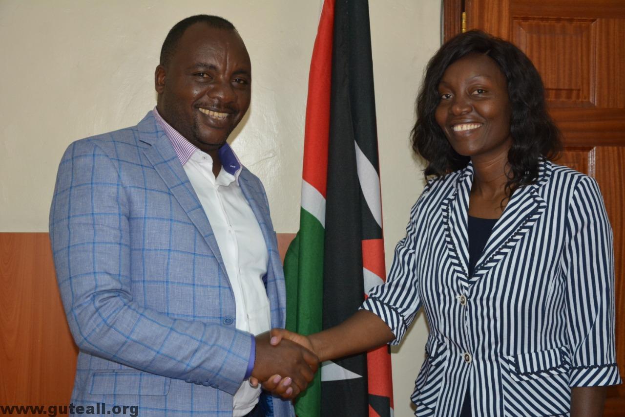 Genesis Umbrella to Empower All - GUTEALL - Jane Lucas Wangare and David Waweru Meet Speaker Joel Maina Kairu of Nakuru County 7